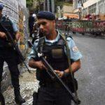 Police patrolling the streets of Rio de Janeiro