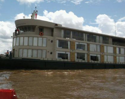 The Amazon Discovery was robbed by river pirates on July 14