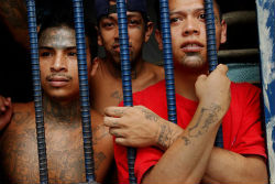 Incarcerated youth gang members in Guatemala