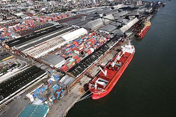 The port of Santos, Brazil