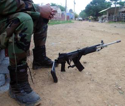 Member of an unidentified armed group in Colombia