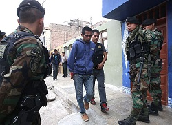 A police operation in Callao