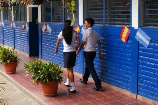 Schoolchildren in El Salvador