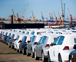 Vehicles prepared for export