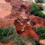 Alluvial gold mining in Antioquia, Colombia