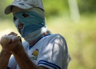 A farmer protests against eradication in Catatumbo, 2013