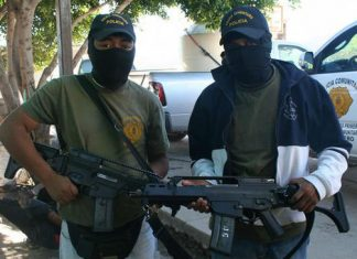 Community police officers in Guerrero