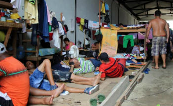 Cuban migrants stranded in Turbo, Colombia