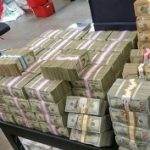 The cash seized in San Diego
