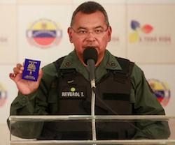 Nestor Reverol, Venezuela's new interior minister
