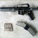 M-16 confiscated from a gang in El Salvador