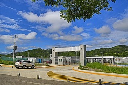 The entrance to Honduras' new maximum security facility in Santa Bárbara.