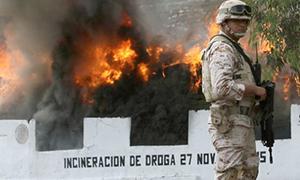 Destruction of seized drugs in Mexico. c/o Animal Politico/Cuartoscuro