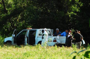 Crime scene in Jiquilisco, the site of a case study in the INCIDE report
