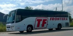 A bus belonging to Transportes Frontera