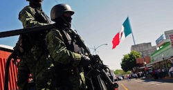 The number of Mexican soldiers in domestic security roles doubled in five years