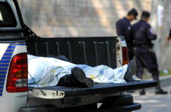 A homicide victim in El Salvador
