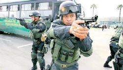 Members of Peru's National Police