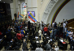 Protesters storm Venezuela National Assembly