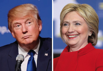 Leading presidential candidates Donald Trump and Hillary Clinton