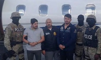 Efrain Antonio Campo Flores and Francisco Flores de Freitas upon their arrest in Haiti in November 2015.