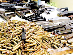 Illegal arms seized in Honduras