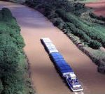 The Paraná River is a major trafficking artery