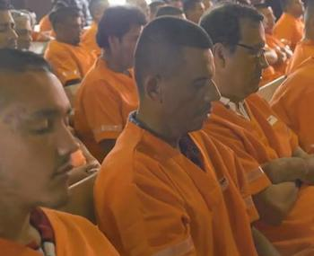 Meditation has helped bring violence levels down among inmates in Mexico's Apodaca prison