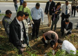 A crime scene in Venezuela