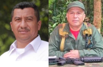 FARC dissident commanders 'Gentil Duarte' (left) and 'John 40' (right)