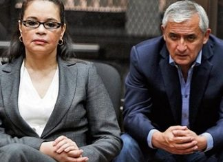 Former Guatemalan Vice President Roxana Baldetti, and former President Otto Pérez Molina