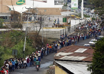 Venezuelans often wait in long lines for basic goods