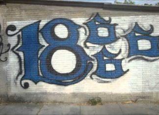 Graffiti of the Sureños gang