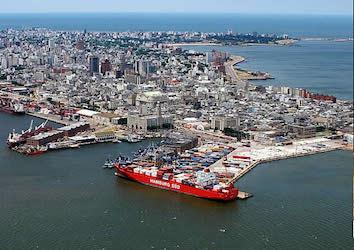 Uruguay's port of Montevideo