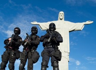 Brazil Military Police in Rio de Janeiro
