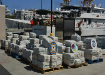 A seized multi-ton cocaine shipment