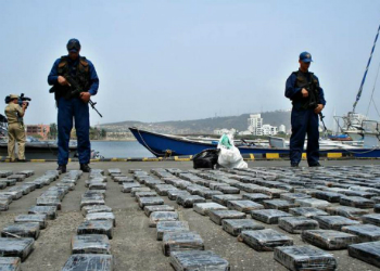 Colombian cocaine seized in the Caribbean