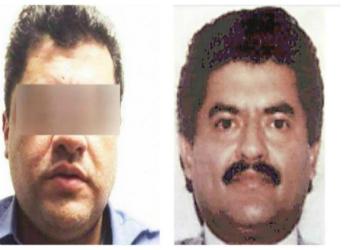 """Alias """"El Negro,"""" recently escaped from prison (left), and his father, alias """"El Azul"""" (right)"""