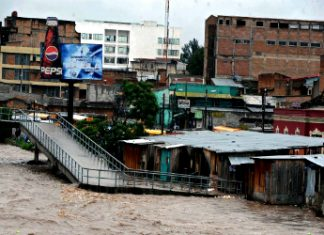 Tropical storm Agatha hit Honduras, in May 2010