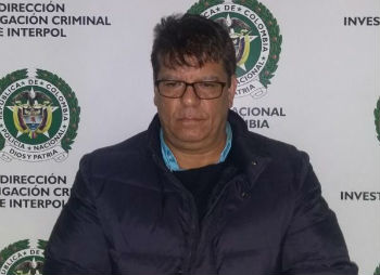 "Colombian police arrested William Rafael Vargas Maestre, alias ""Canoso"""