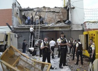 The Prosegur headquarters blasted open with explosives during the attack
