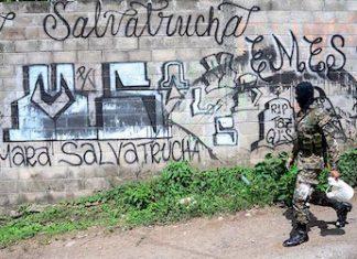 MS13 graffiti