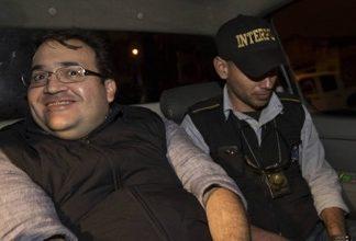 Former Mexico Gov. Javier Duarte after his arrest in Guatemala in April 2017