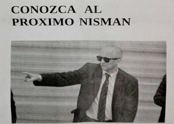 The pamphlet harboring a death threat addressed to prosecutor Cartasegna
