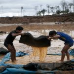 An illegal mine in Peru's Madre de Dios department