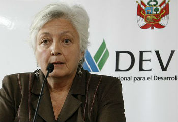 DEVIDA President Carmen Masías