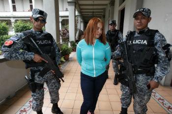 """""""La Patrona"""" after her arrest in El Salvador"""