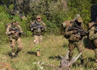 Members of Paraguay's Joint Task Force during an operation