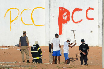 PCC graffiti inside a Brazil prison