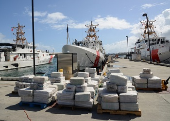 A multi-ton cocaine seizure by the US Coast Guard